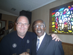 An after-church photo of Ray and me a few years back.