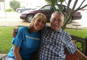 Keith and his sister, Carol, who was also a high school classmate of mine.