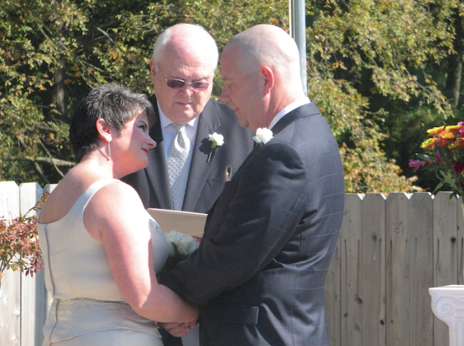Bill Barber, presiding over our vows in October 2009.
