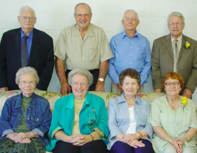 It's funny, this is the only photo of Tink I could scrape up. It's from the archives in our old hometown newspaper and notes the four couples in this photo combined for 260 years of marriage. Tink is back row, second from left. It's my good fortune to find the photo, however, as every person in it affected my life in some positive way. I want to thank them, too.