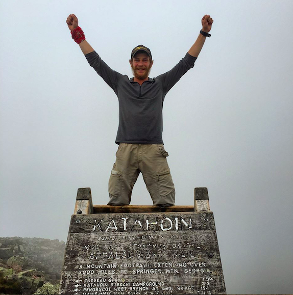 Jackson Spencer celebrating the conclusion of through hiking 2,182.7 miles in 99 days on the Appalachian Trail. What an extraordinary achievement.