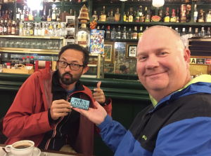 Andrew was the fourth recipient of our five Phil's Camino patches provided by Annie O'Neil.
